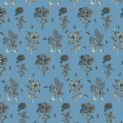 Inprint Chelsea Physic Garden - 4053 - Herbs - Cornflower Blue - 8953 B78 - Cotton Fabric
